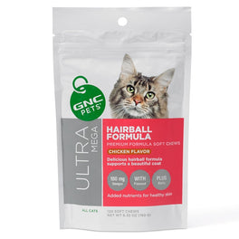 GNC Pets Ultra Mega Hairball Formula Chicken-Flavor Soft Chews Cat Supplement 120ct