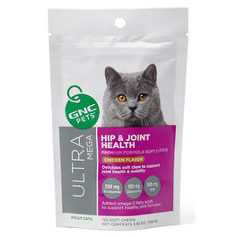 GNC Pets Ultra Mega Hip & Joint Chicken-Flavour Soft Chews Adult Cat Supplement 120ct