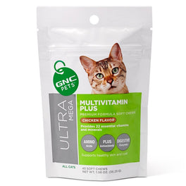 GNC Pets Ultra Mega Multivitamin Plus Chicken-Flavor Soft Chews Cat Supplement 45ct