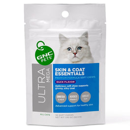 GNC Pets Ultra Mega Skin & Coat Essentials Duck-Flavour Soft Chews Cat Supplement 30ct