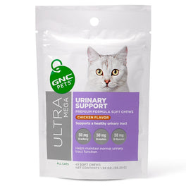 GNC Pets Ultra Mega Urinary Support Chicken-Flavour Soft Chews Cat Supplement 45ct