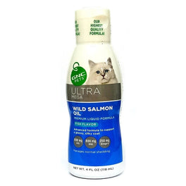 GNC Pets Ultra Mega Wild Salmon Oil Fish-Flavour Cat Supplement 118ml