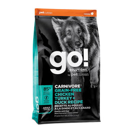 GO! Carnivore Grain Free Chicken, Turkey + Duck Adult Recipe Dry Dog Food 3.5lb