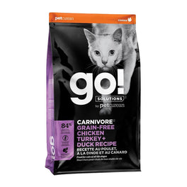 Petcurean GO! Carnivore Grain Free Chicken Turkey + Duck Recipe Dry Cat Food
