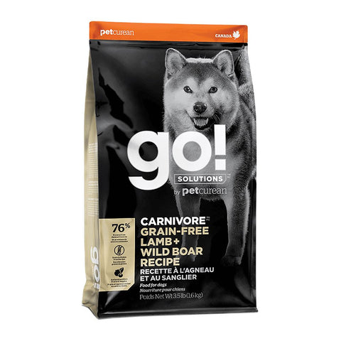 Petcurean GO! Carnivore Grain Free Lamb + Wild Boar Recipe Dry Dog Food - Kohepets