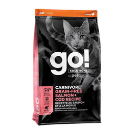 Petcurean GO! Carnivore Grain Free Salmon + Cod Recipe Dry Cat Food 3lb