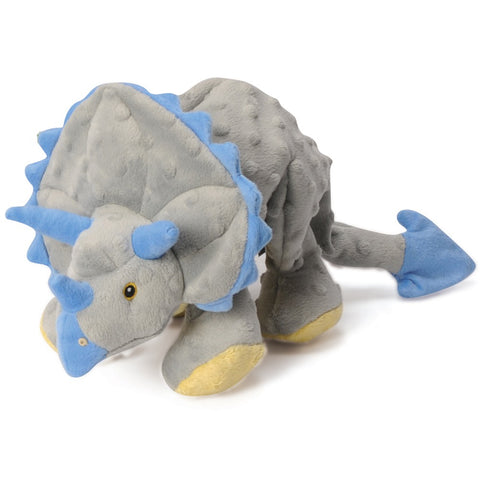 GoDog Frills The Triceratops Dino Plush Dog Toy - Kohepets
