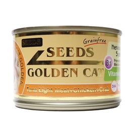 Seeds Golden Cat Tuna Light Meat, Chicken & Crab Canned Cat Food 170g