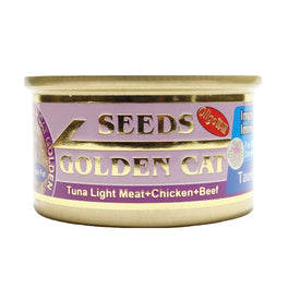 Seeds Golden Cat Tuna Light Meat, Chicken & Beef Canned Cat Food 80g