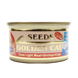 Seeds Golden Cat Tuna Light Meat, Shrimp & Crab Canned Cat Food 80g