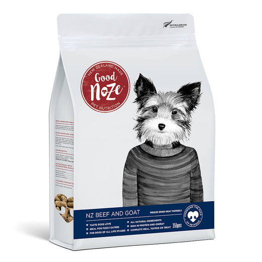 Good Noze NZ Beef & Goat Freeze-Dried Dog Food 350g - Kohepets