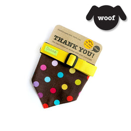 Goood Pet Collars Cool Scarf Handmade Dog Collar - Candy Dots