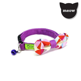 Goood Pet Collars Rounded Bow Handmade Cat Collar - Grapey Charts