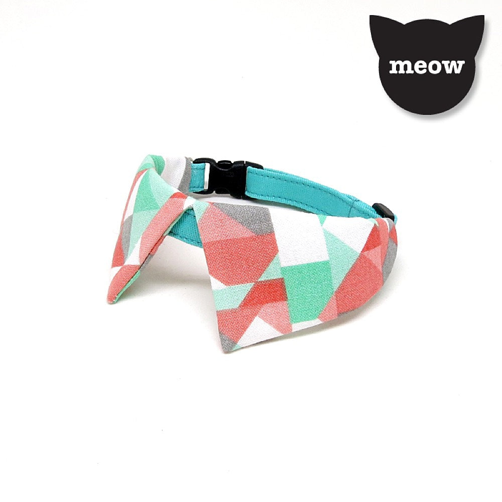 2a7a3d2f75a72 Goood Pet Collars Sharp Dapper Handmade Cat Collar - Pastel Geometric