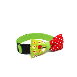 Goood Pet Collars Smarty Bow Handmade Dog Collar - Apple Of My Eyes