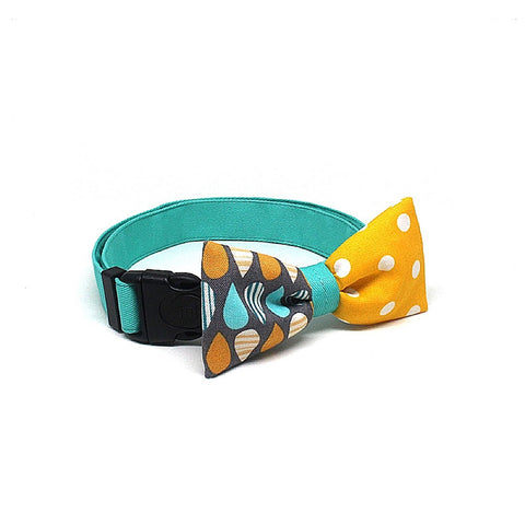 Goood Pet Collars Smarty Bow Handmade Dog Collar - Drip Drop