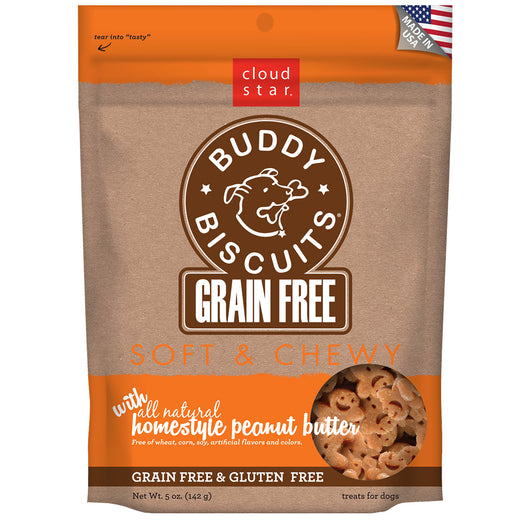 Cloud star Grain Free Soft and Chewy Buddy Biscuits in Homestyle Peanut Butter