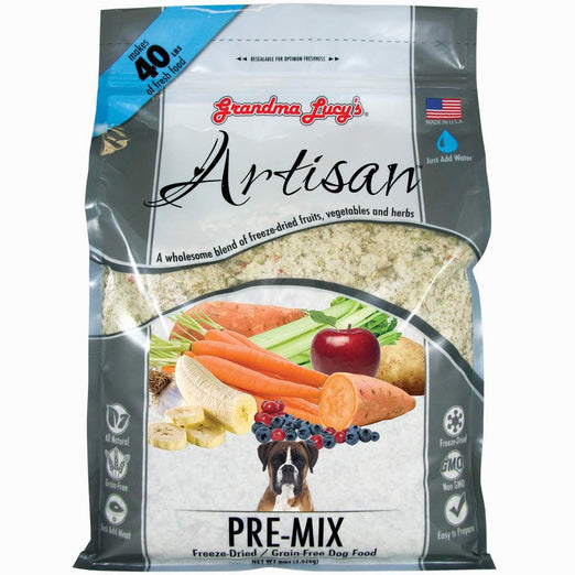 2 FOR $88: Grandma Lucy's Artisan Pre-Mix Freeze-Dried Grain-Free Dog Food 3lb