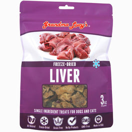 25% OFF: Grandma Lucy's Freeze-Dried Liver Single Ingredient Cat & Dog Treats 2.5oz