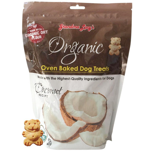 Grandma Lucy's Organic Coconut Oven Baked Dog Treats 14oz