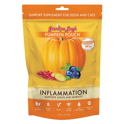 Grandma Lucy's Pumpkin Pouch Inflammation Supplement For Cats & Dogs 6oz - Kohepets