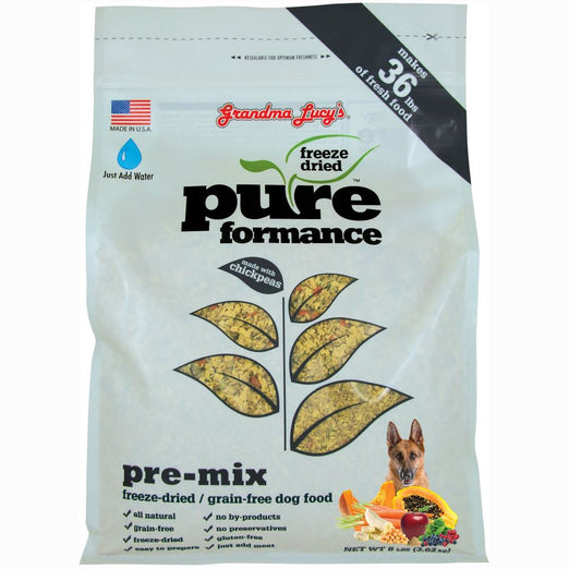 2 FOR $88: Grandma Lucy's Pureformance Pre-Mix Freeze-Dried Grain-Free Dog Food 3lb