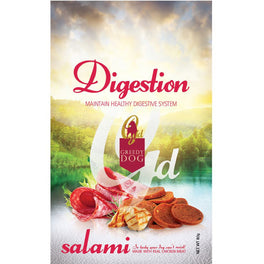 3 FOR $10: Greedy Dog Digestion Salami Dog Treat 80g