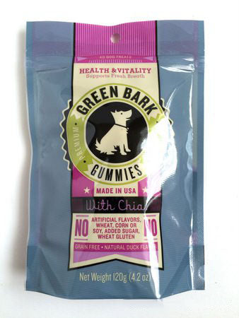 Green Bark Gummies Health & Vitality With Chia Dog Treat 240g