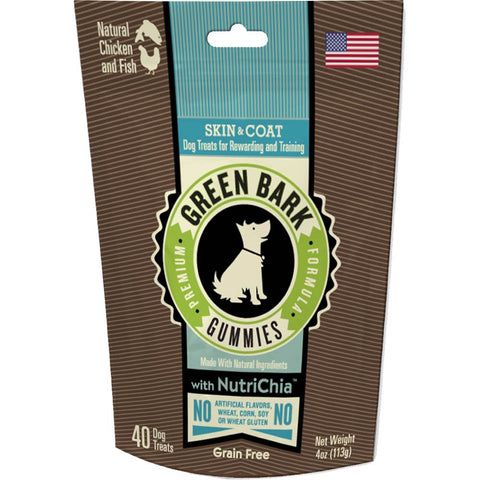 Green Bark Gummies Skin & Coat With Chicken, Fish & Chia Dog Treat 113g - Kohepets