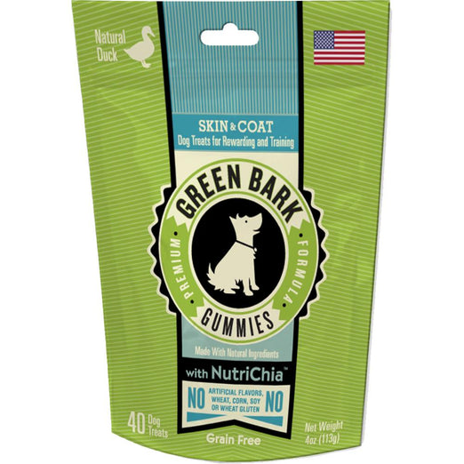 Green Bark Gummies Skin & Coat With Duck Dog Treat 113g