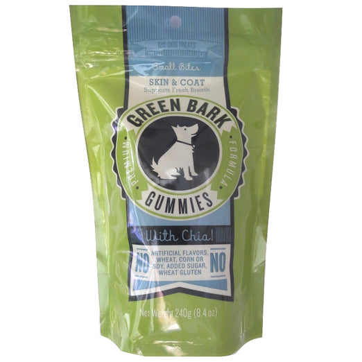 Green Bark Gummies Skin & Coat With Chia Dog Treat 240g - Kohepets