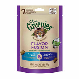10% OFF: Greenies Flavor Fusion Ocean Fish & Tuna Cat Dental Treats 2.5oz
