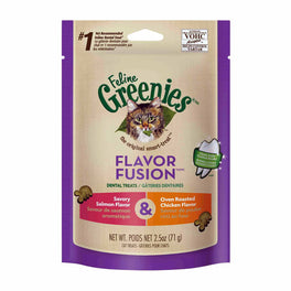 10% OFF: Greenies Flavor Fusion Salmon & Chicken Cat Dental Treats 2.5oz