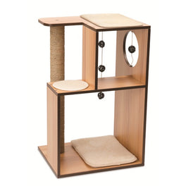 Vesper V-Box In Walnut Large Cat Condo