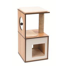 Vesper V-Box In Walnut Small Cat Condo