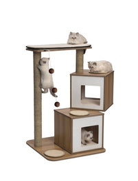 Vesper V-Double In Walnut Cat Condo