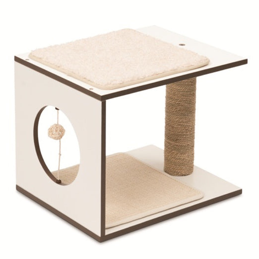 Vesper V-Stool In White Cat Post - Kohepets