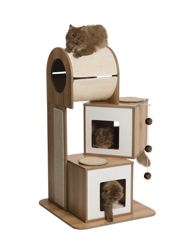 Hagen Vesper V-Tower In Walnut Cat Post