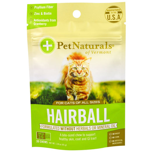 15% OFF: Pet Naturals of Vermont Hairball Supplement Cat Treat 30 Chews (LIMITED TIME)