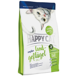 '40% OFF 1.4kg' (EXP 26 Dec 19): Happy Cat Sensitive Land-Geflugel Organic Poultry Dry Cat Food