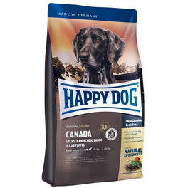 'BUY 1 GET 1 FREE': Happy Dog Canada Salmon, Rabbit, Lamb & Potato Grain Free Dry Dog Food