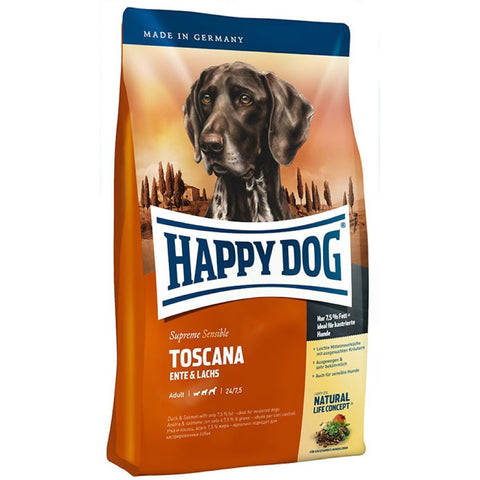 Happy Dog Toscana Duck & Salmon Dry Dog Food