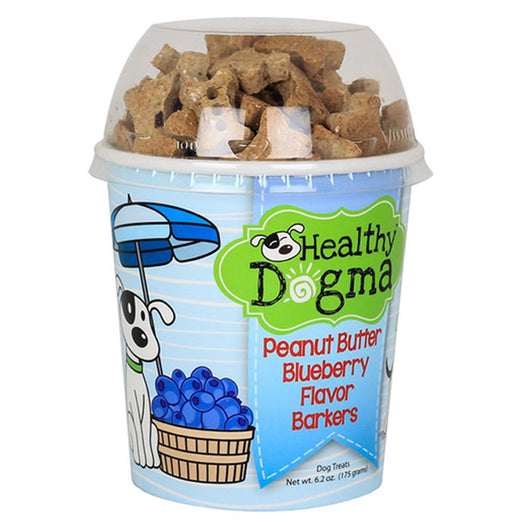 Healthy Dogma Peanut Butter Blueberry Barkers Natural Dog Treats (Cup) 6.2oz - Kohepets