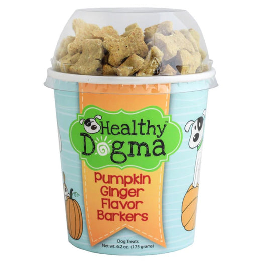Healthy Dogma Pumpkin Ginger Barkers Natural Dog Treats (Cup) 6.2oz - Kohepets