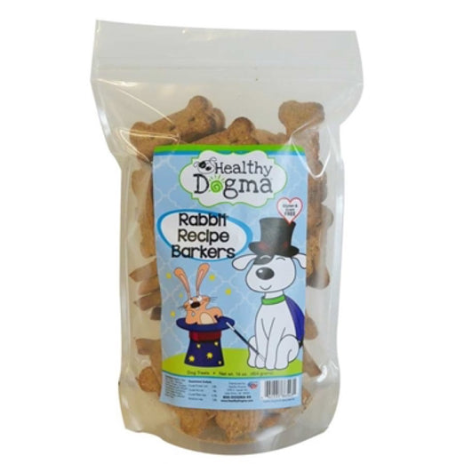 Healthy Dogma Rabbit Recipe Barkers Grain-Free Natural Dog Treats 16oz - Kohepets