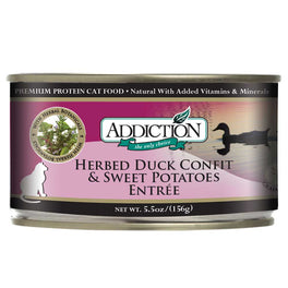 Addiction Herbed Duck Confit & Sweet Potatoes Entree Canned Cat Food 156g