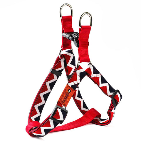 HiDREAM Rainbow Adjustable Dog Y-Harness (Red)