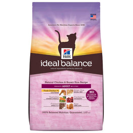 Hill's Ideal Balance Natural Chicken & Brown Rice Adult Dry Cat Food