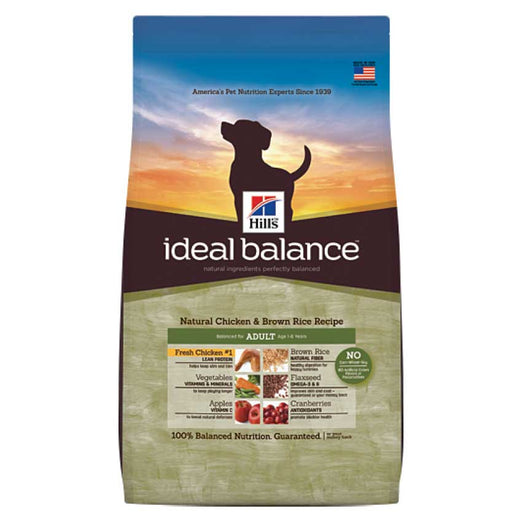 Hill's Ideal Balance Natural Chicken & Brown Rice Adult Dry Dog Food 4lb - Kohepets