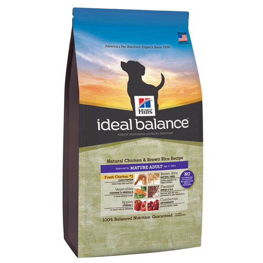 Hill's Ideal Balance Natural Chicken & Brown Rice Mature Adult Dry Dog Food 4lbs